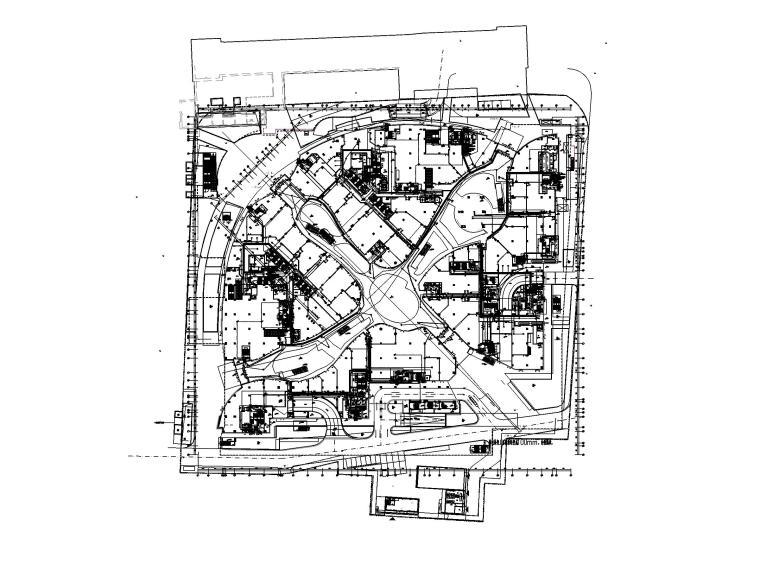 [上海]23万平商业中心电气施工图(强弱电)-3CA平面图