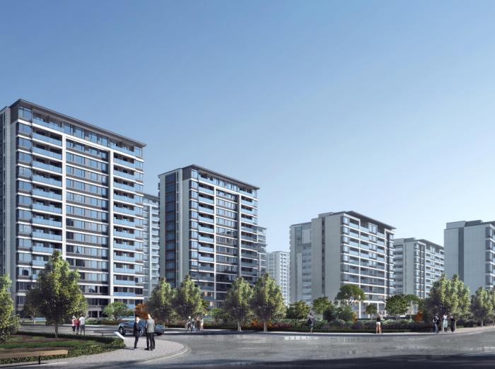 新城杭州商品住宅配套公建报建方案文本2019-南侧沿街透视图