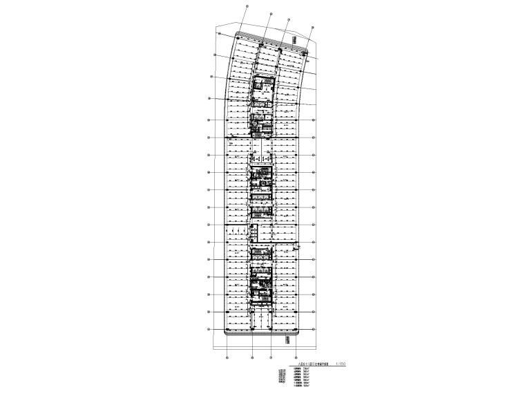 [上海]十七层商业综合体给排水施工图-六层至十二层III区喷淋平面图