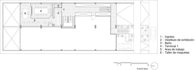墨西哥DiVeceArquitectos工作室-墨西哥Di Vece Arquitectos工作室平面图1