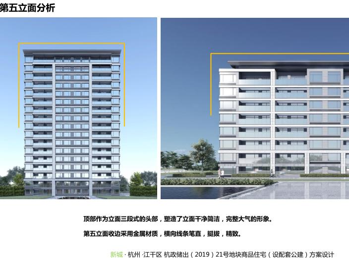 新城杭州商品住宅配套公建报建方案文本2019-第五立面分析
