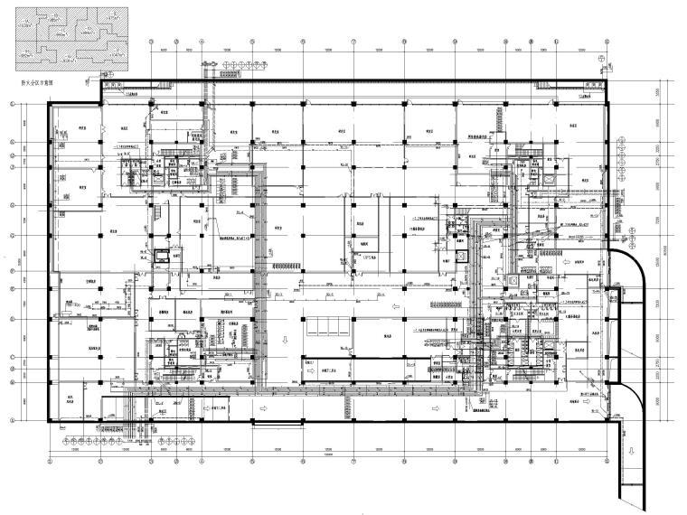 [北京]六层办公楼给排水消防系统设计施工图-地下一层给排水平面图