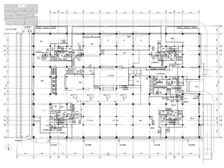 [北京]六层办公楼给排水消防系统设计施工图-一层给排水平面图