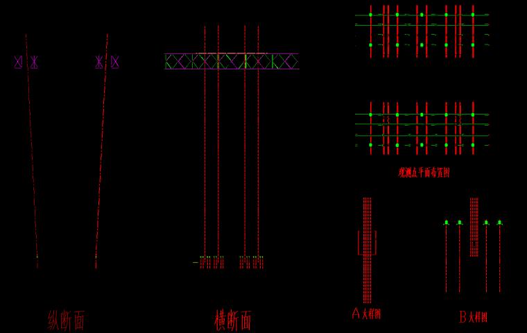 [衡阳]大桥上部结构施工方案-支架预压布置图