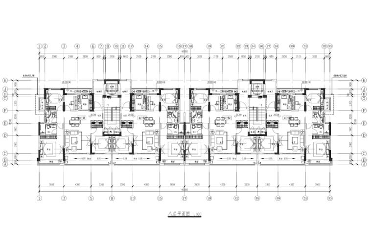 新城杭州商品住宅配套公建报建方案文本2019-八层平面图