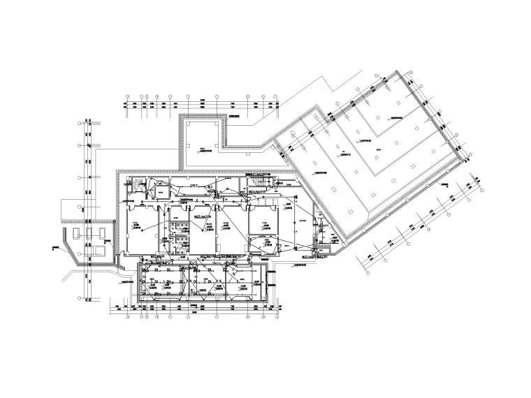 [四川]九寨沟景区著名五星级酒店电气施工图-1照明平面图