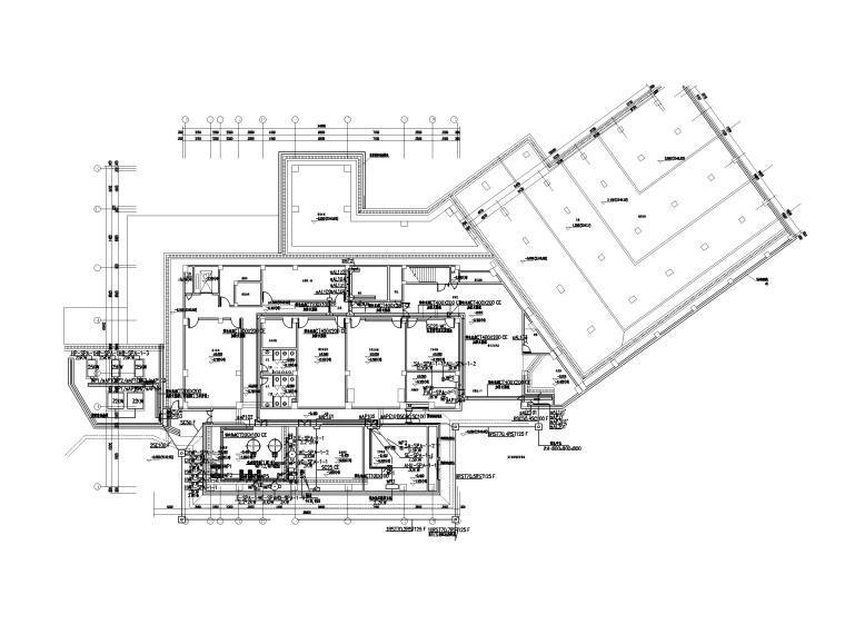 [四川]九寨沟景区著名五星级酒店电气施工图-2电力平面图1