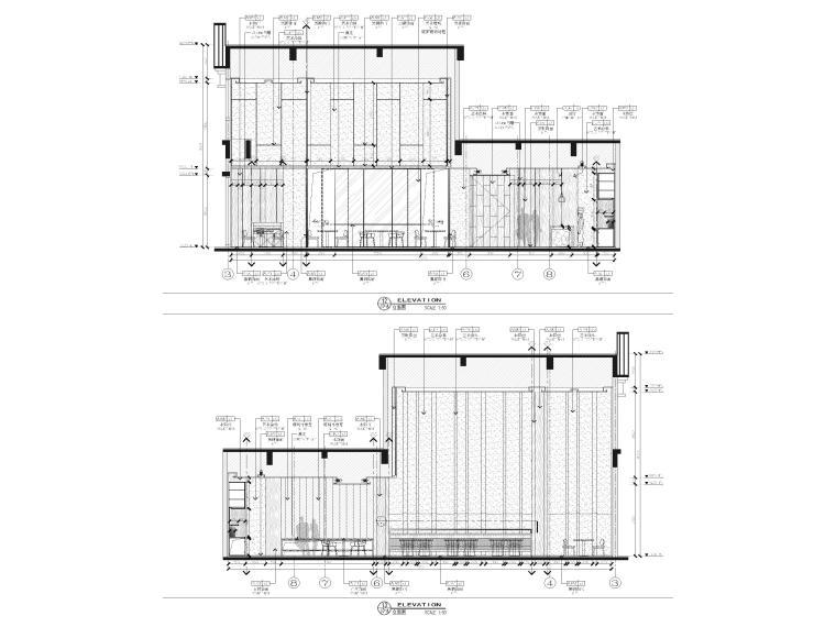 [广西]南宁万枫酒店室内装修设计施工图-公区立面图4