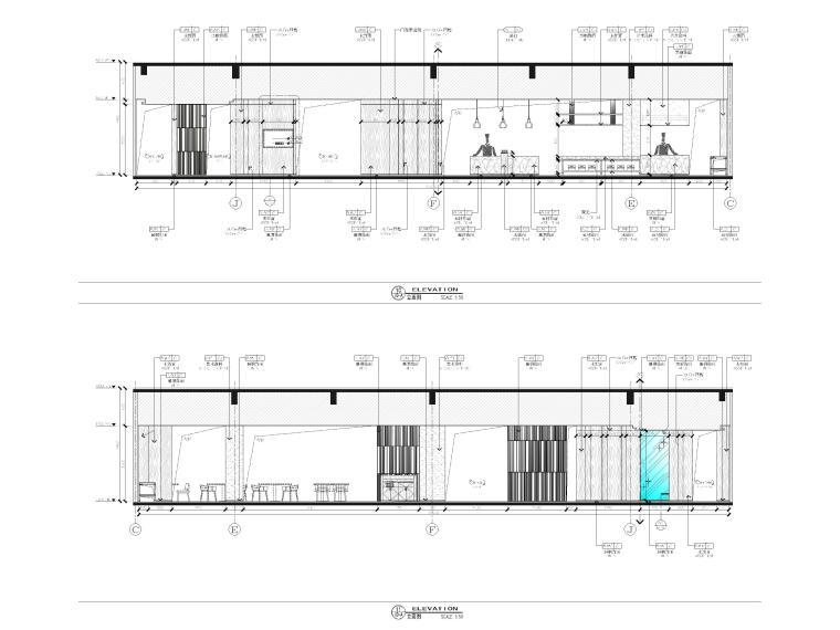 [广西]南宁万枫酒店室内装修设计施工图-公区立面图3