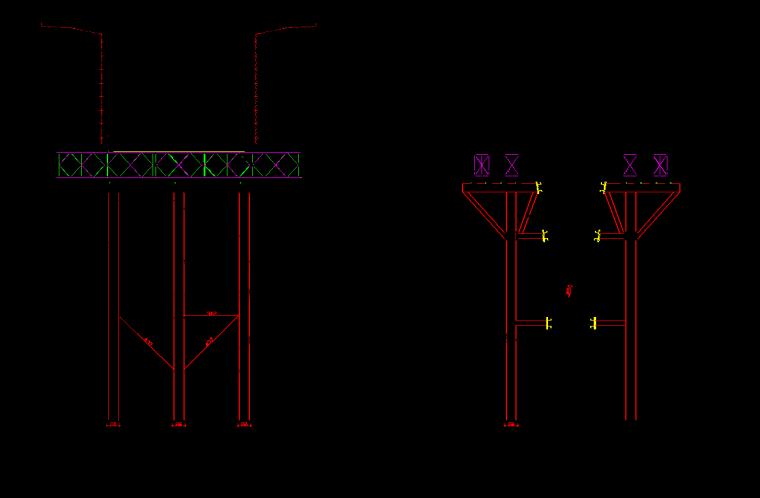 [衡阳]大桥上部结构施工方案-支架总体布置图