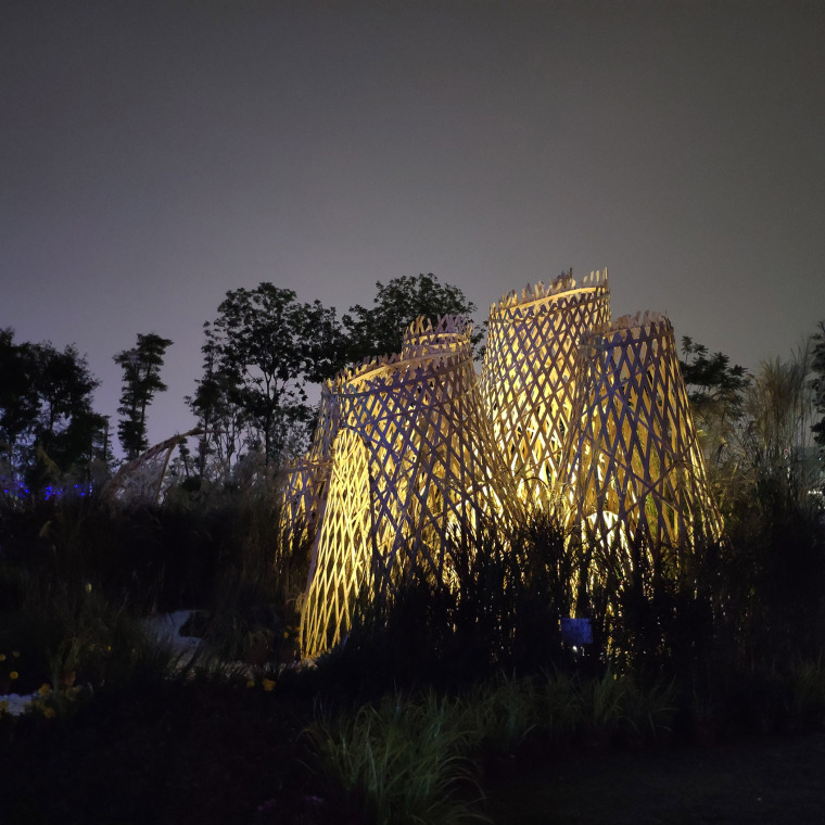 成都第三届北林国际花园建造节竹构装置实景图26