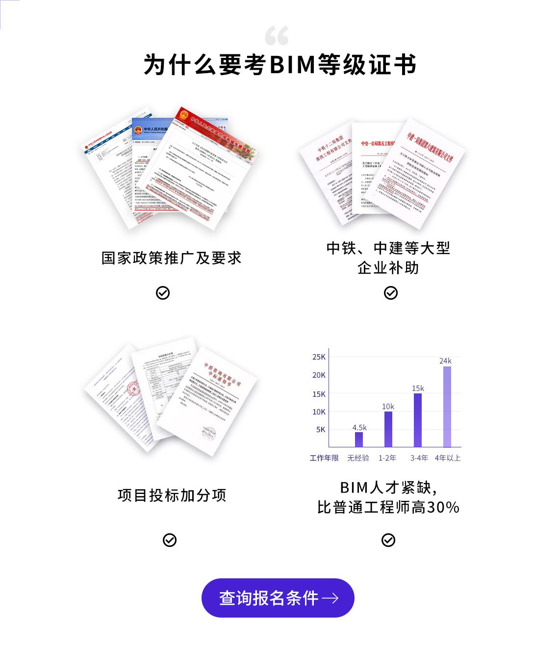 为什么要考BIM等级证书?考BIM证书优势大,工程师、设计师、甲方和学生都适合考。人社部和图学会BIM证书全国通用。