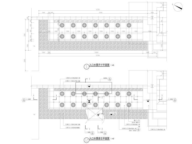 [昆明]临湖新中式示范区景观CAD施工图+SU-入口水景详图