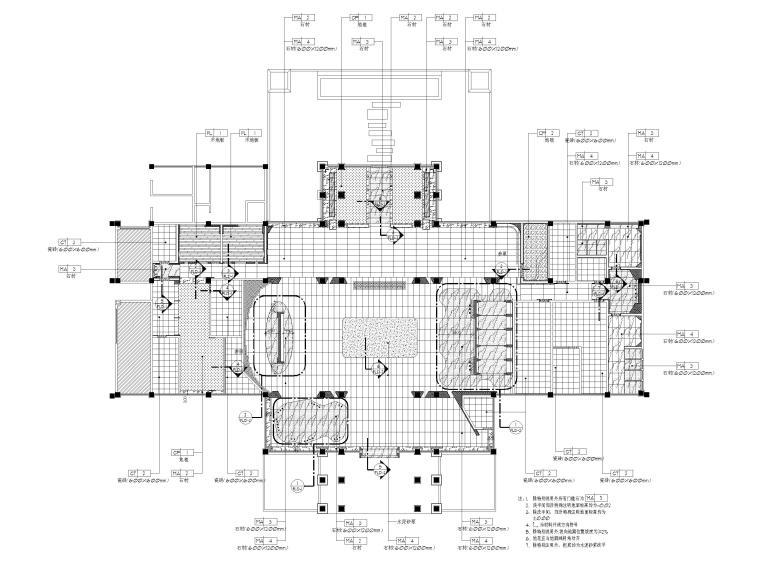 [广州]南沙珠江湾售楼处室内装修设计施工图-地面铺装图