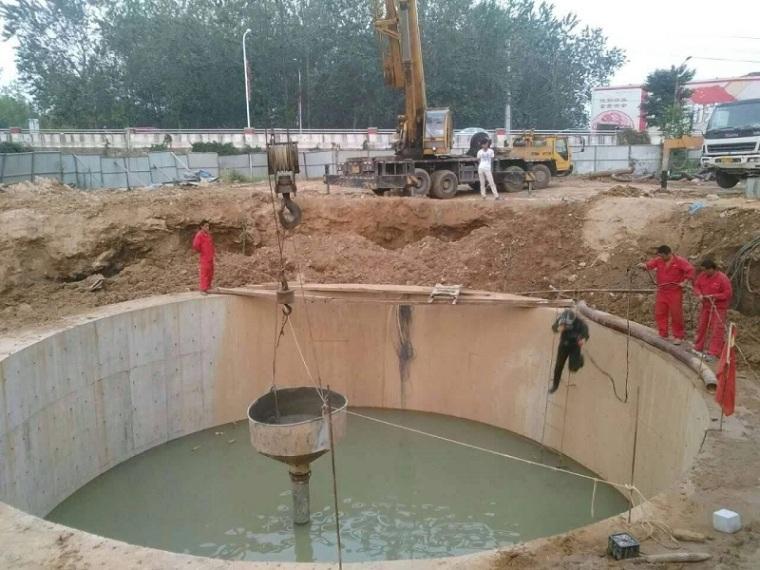 沉井法施工概述-施工方案