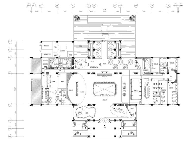 [广州]南沙珠江湾售楼处室内装修设计施工图-应急照明平面图
