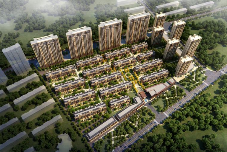 沈阳现代东方中式园林示范区景观CAD施工图-鸟瞰图
