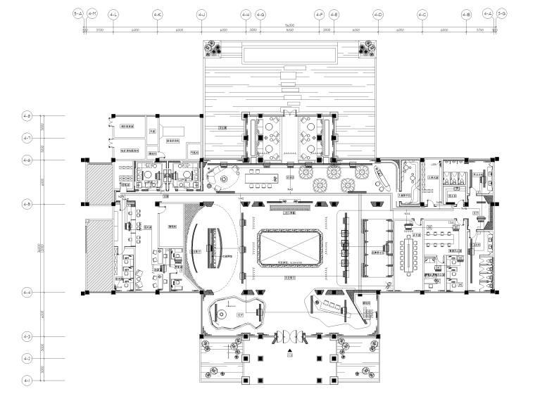 [广州]南沙珠江湾售楼处室内装修设计施工图-空调平面图