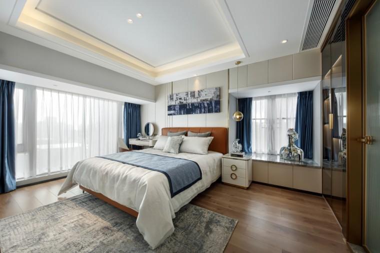 现代轻奢风的居住空间室内实景图8