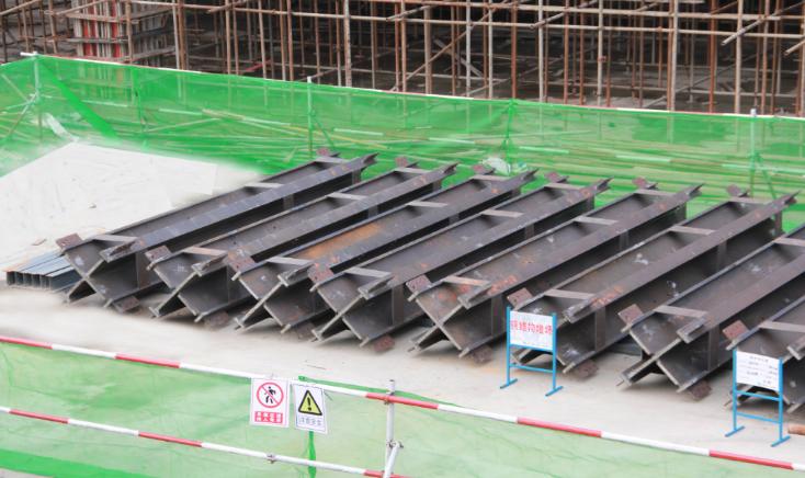 24层综合楼钢结构工程施工组织设计-02 钢柱堆放示意图