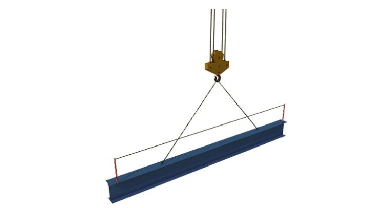 24层综合楼钢结构工程施工组织设计-04 钢梁的吊运起吊示意图