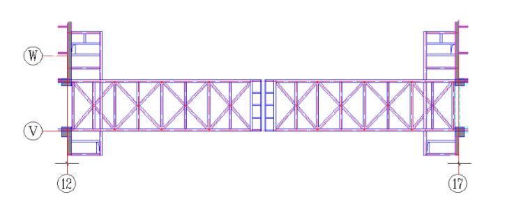 24层综合楼钢结构工程施工组织设计-05 连廊平面布置图