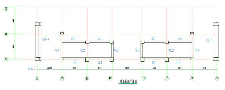 24层综合楼钢结构工程施工组织设计-07 钢梁结构布置