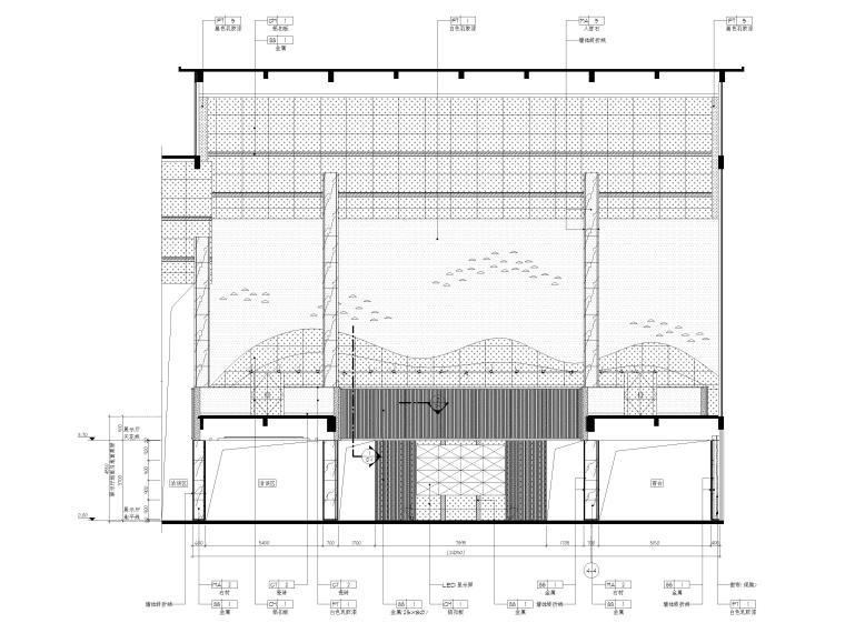 [广州]南沙珠江湾售楼处室内装修设计施工图-展示厅立面图