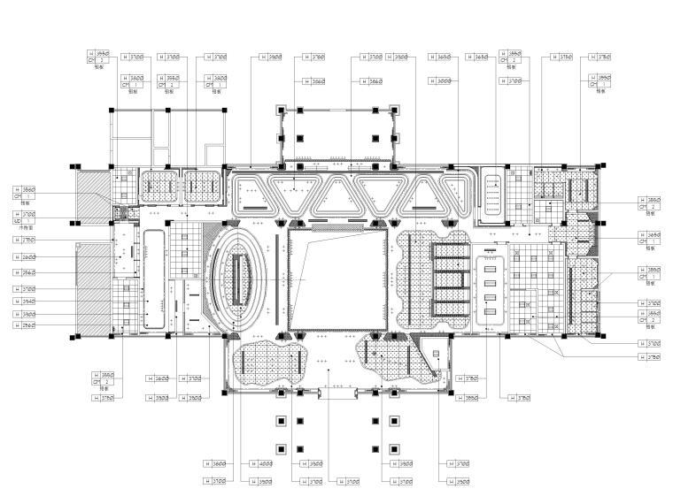 [广州]南沙珠江湾售楼处室内装修设计施工图-天花反映图