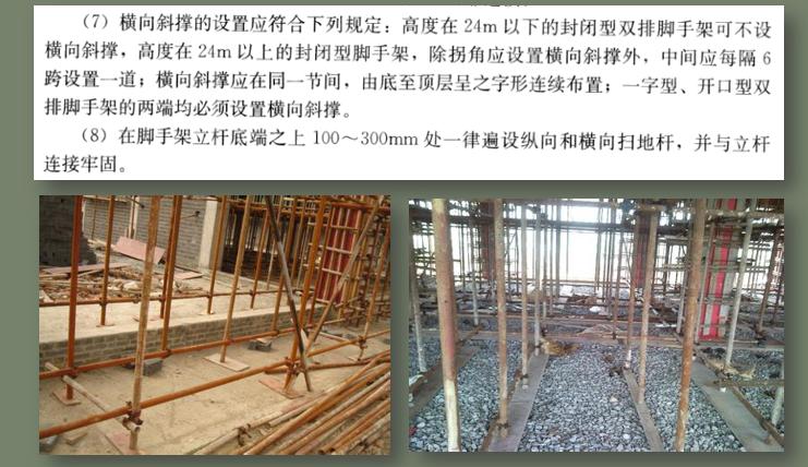 脚手架工程施工解读与应用培训讲义PPT-06 横向斜撑的设置