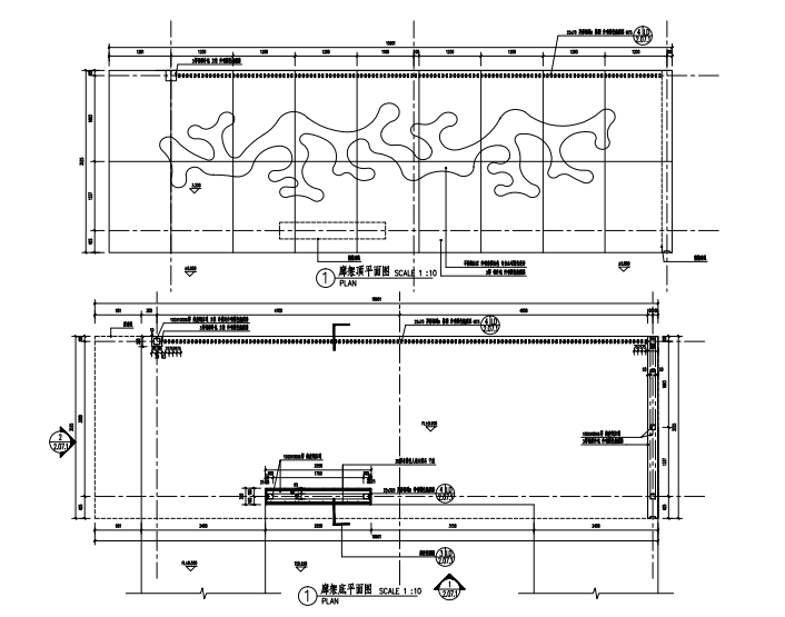 沈阳现代东方中式园林示范区景观CAD施工图-廊架详图二