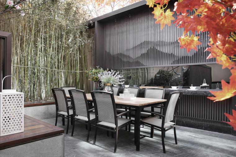 [北京]390㎡二层三居联排别墅施工图+3D模型-5庭院