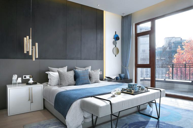[北京]390㎡二层三居联排别墅施工图+3D模型-19主卧4