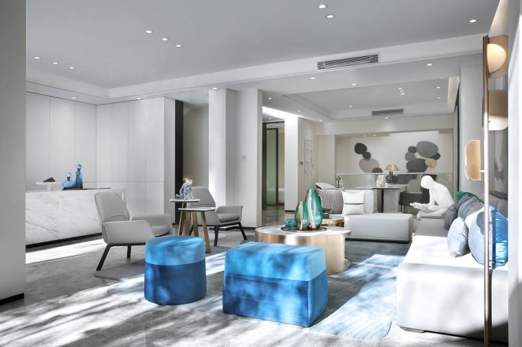 [北京]390㎡二层三居联排别墅施工图+3D模型-9客厅6