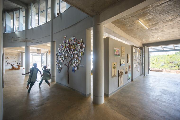 印度Agastya国际基金会的艺术与创新中心内部实景图