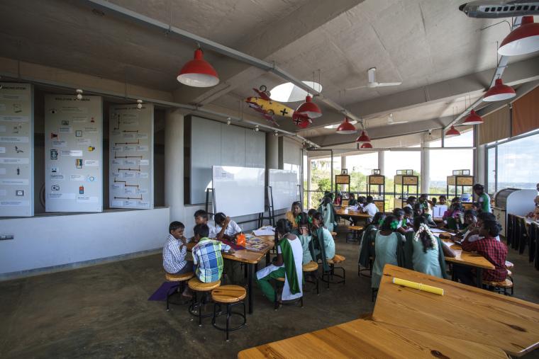 印度Agastya国际基金会的艺术与创新中心内部实景图1