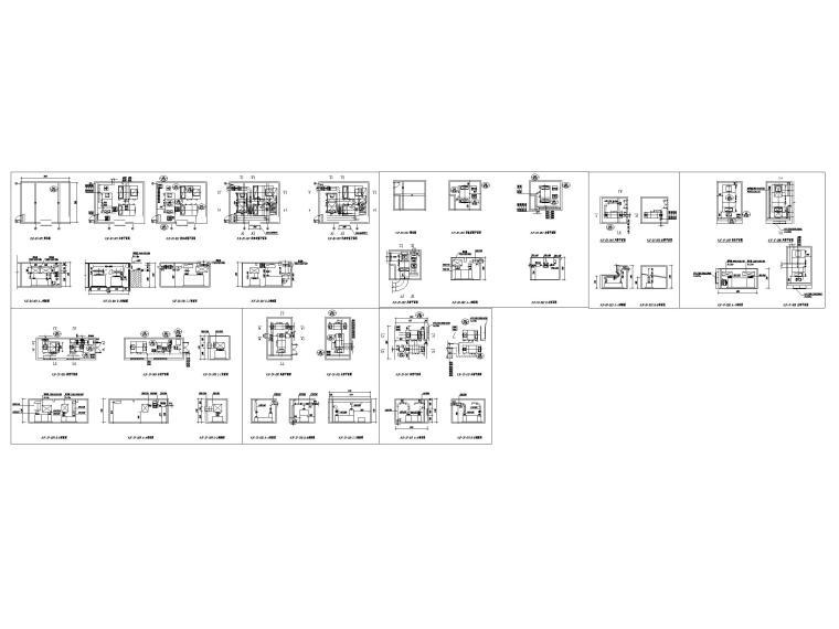 [吉林]五星级酒店采暖通风空调设计施工图纸-空调机房详图