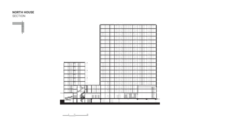荷兰OurDomain学生公寓剖面图