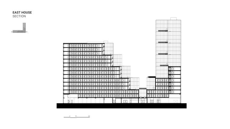 荷兰OurDomain学生公寓剖面图1