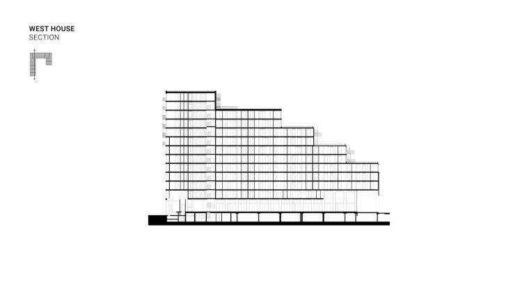 荷兰OurDomain学生公寓剖面图2