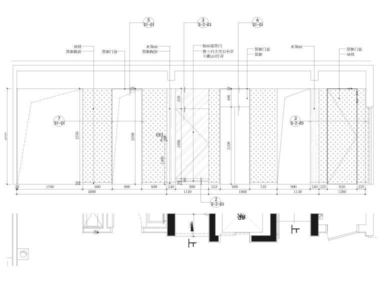 [北京]390㎡二层三居联排别墅施工图+3D模型-别墅立面图3