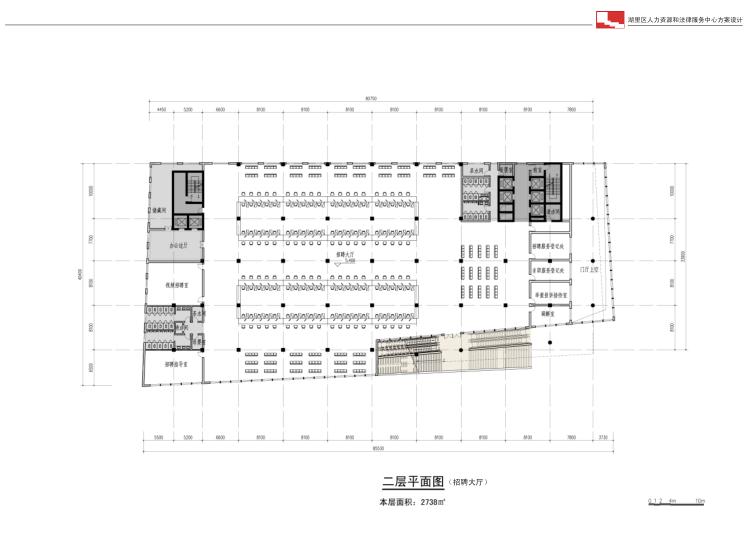 厦门人力资源法律服务中心政府办公方案文本-平面图