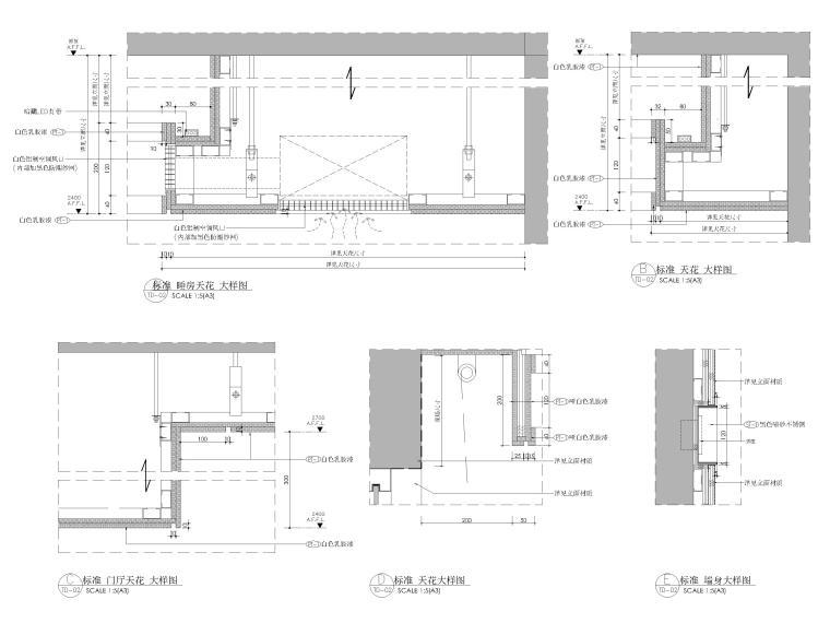 [杭州]125㎡三居家装样板房室内装修施工图-节点大样详图