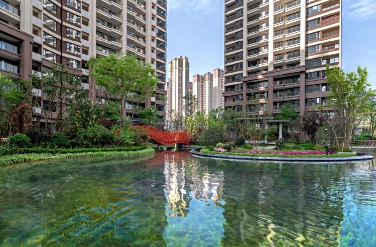 成都中国铁建西派泊玥住宅景观实景图14
