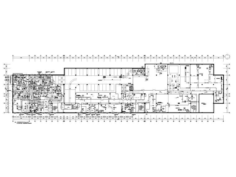 [吉林]五星级酒店采暖通风空调设计施工图纸-地下一层空调通风平面图
