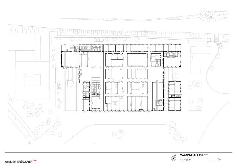 德国瓦根哈伦斯图加特文化中心平面图1