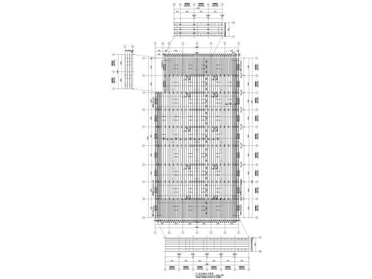 [太仓]2层钢结构汽车车间全套施工图2019-屋面檩条布置图