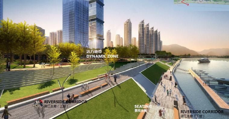 [湖北]宜昌山水新城滨江公园景观设计方案-自行车道效果图