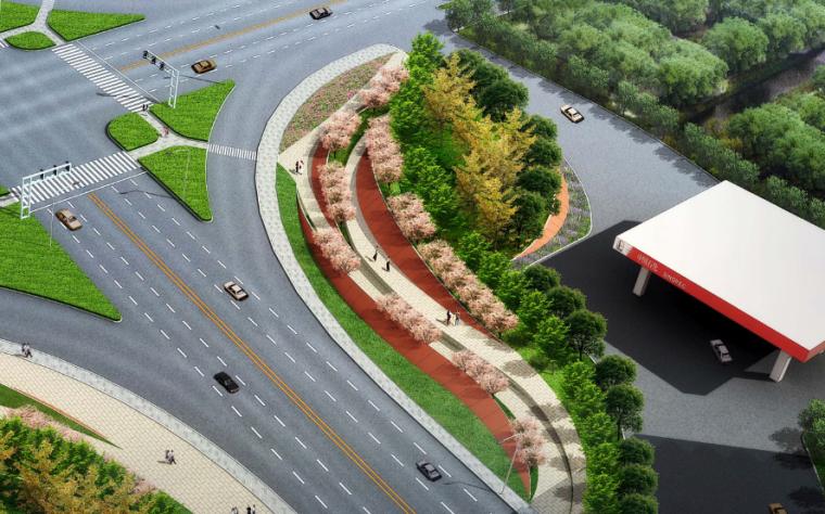 [江苏]宜兴科技工业园道路景观规划方案-绿园路-104国道鸟瞰图五