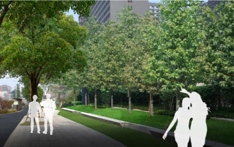 [江苏]宜兴科技工业园道路景观规划方案-绿园路现代休闲段改造效果
